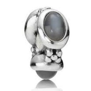 Genuine Pandora Triple Gray Moonstone Bead